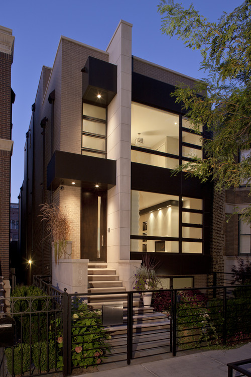 What is the concept of this townhouse and its function for Modern townhouse exterior