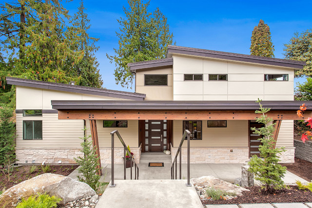 Kirkland Waterfront Residence Contemporary Exterior Seattle By H2 View
