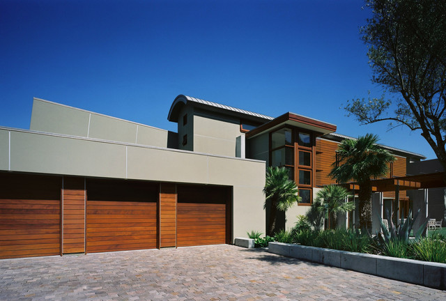 entry and parking contemporary-exterior