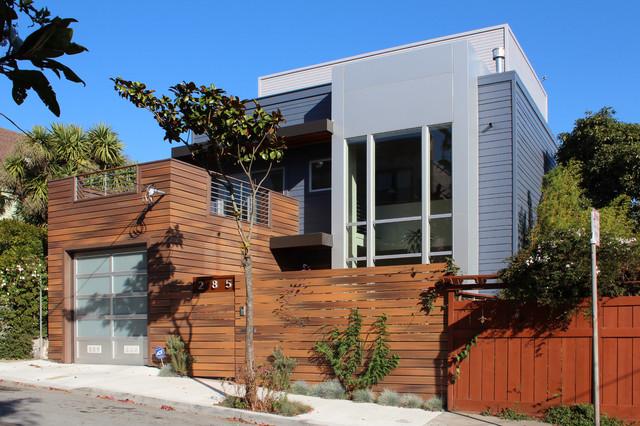 Contemporary exterior for Wood siding vs hardiplank
