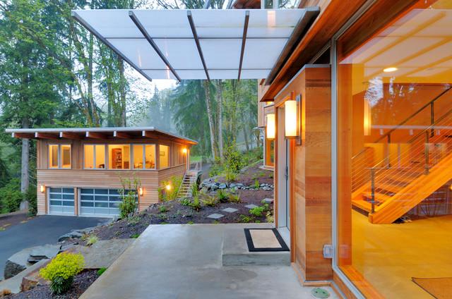 Cougar Mountain House Contemporary Exterior Seattle
