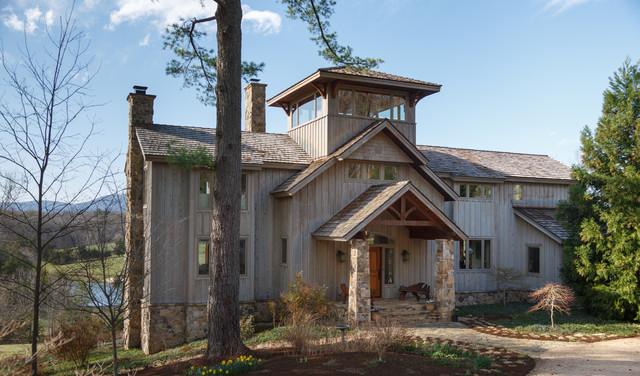 Contemporary Farmhouse Rustic Exterior Richmond By Timberpeg