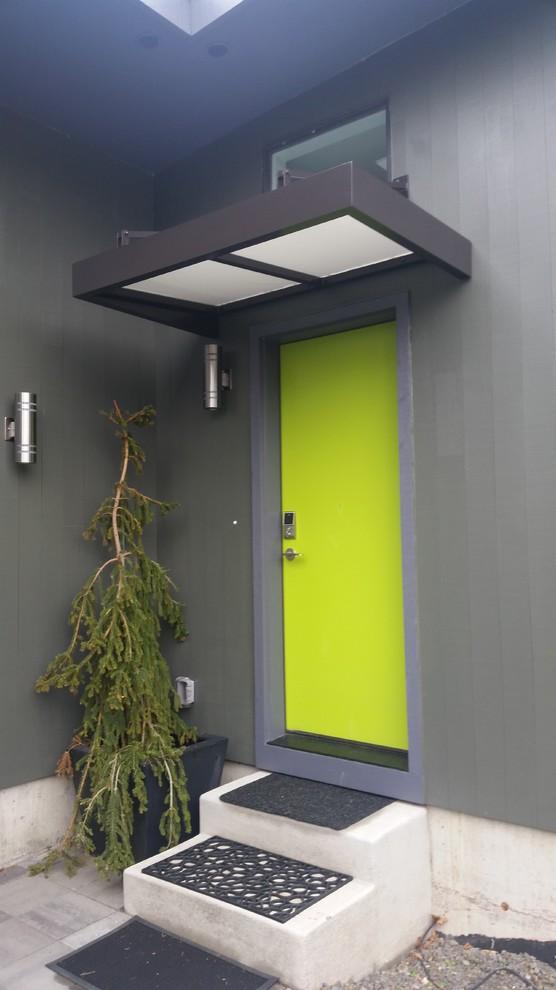 Contemporary flat metal door awning - Contemporary ...