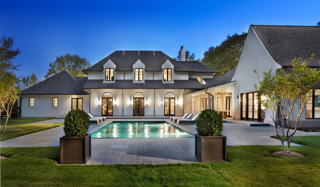 Contemporary French Country Home Exterior Dc Metro