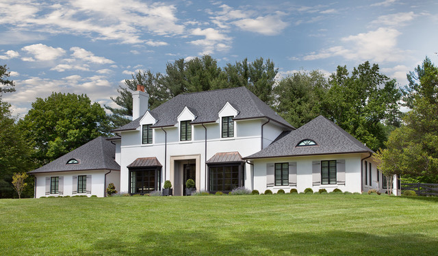 Contemporary french country home exterior dc metro for French country house exterior
