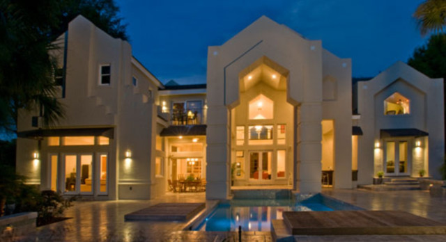 Contemporary luxury home design modern exterior for Modern home design usa