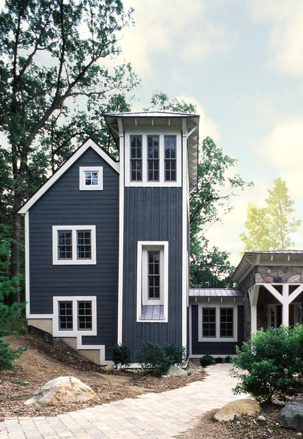 Contemporary michigan farmhouse contemporary exterior detroit by damian farrell design group - Exterior paint blue decoration ...