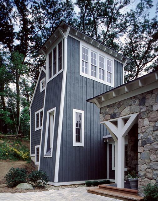 Contemporary Michigan Farmhouse transitional-exterior