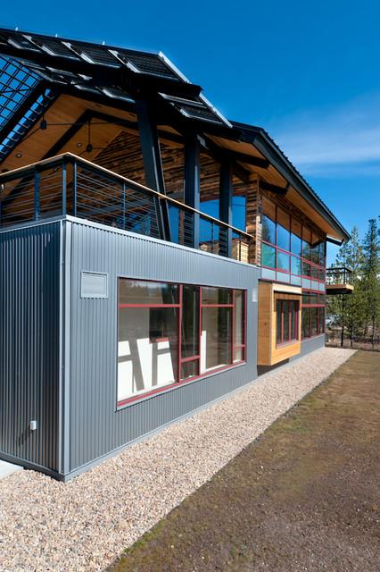 Contemporary Mountain Home Net Zero Contemporary