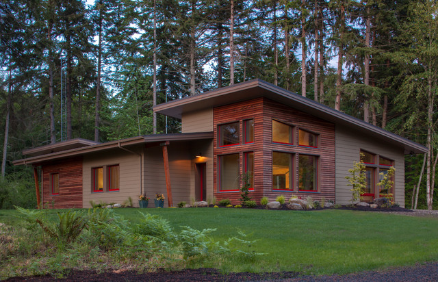 Contemporary northwest passive house contemporary for Northwest contemporary homes