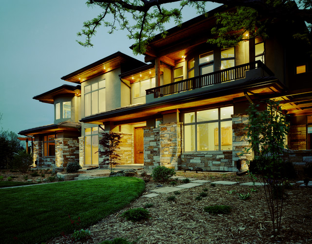 Contemporary prairie style contemporary exterior for Modern prairie