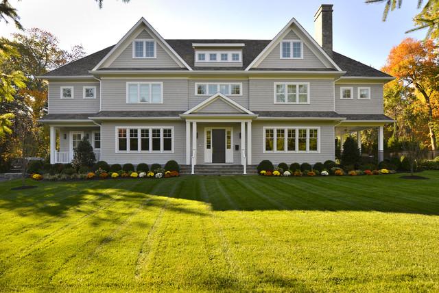 Contemporary Shingle Colonial traditional-exterior & Contemporary Shingle Colonial - Traditional - Exterior - New York ...