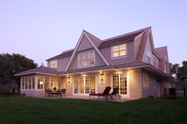 Modern Shingle Style contemporary exterior