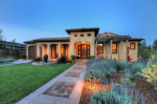 Contemporary tuscan for Mediterranean exterior design