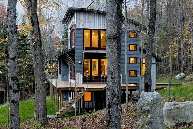 Contemporary Weekend House Sugar Hill NH contemporary exterior