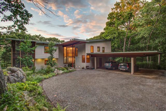 Contemporary Woodland contemporary-exterior