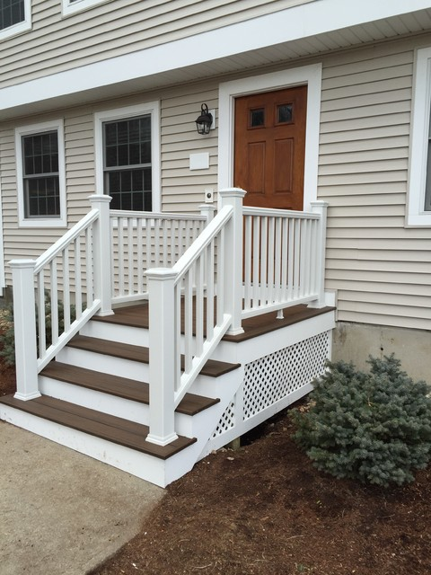 Contour building trex front stairs traditional for Front entry decks