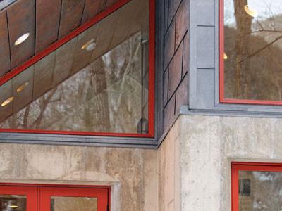 Conundrum Creek concrete house modern-exterior