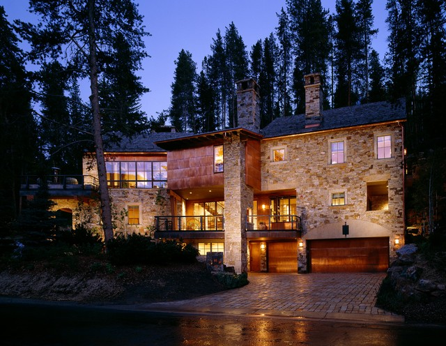 Copper and Stone Contemporary Home contemporary exterior