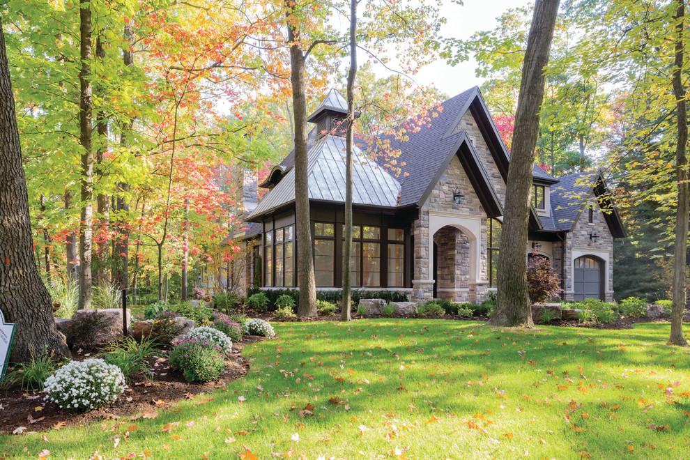 Elegant stone exterior home photo in Toronto
