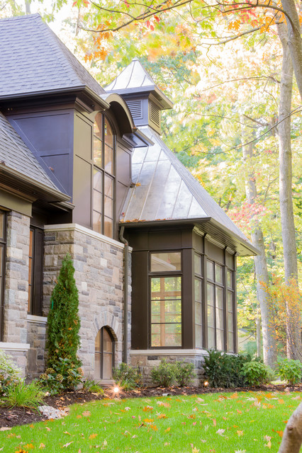 Copper corner traditional exterior toronto by for Traditional house designs uk
