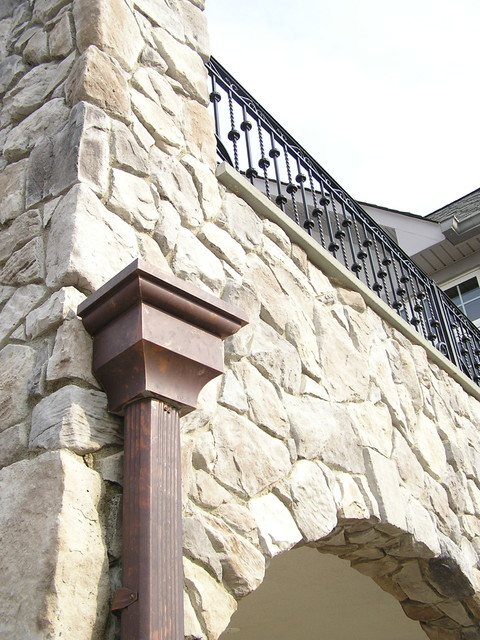 Copper Gutters traditional-exterior