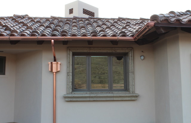 Copper Half Round Gutters New Home In Palmdale Ca Work In