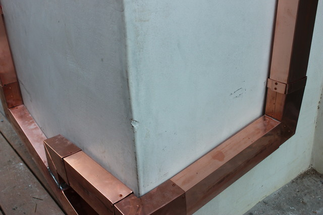 Copper Leaders And Downspouts In Manhattan Beach Modern