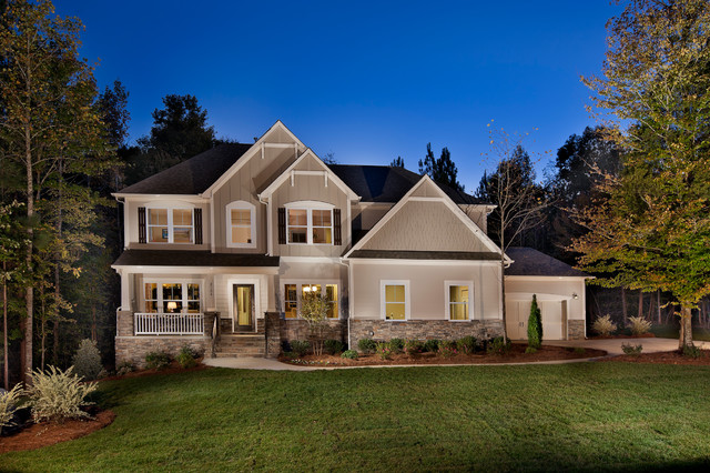 Copper Run Neighborhood Model Home Traditional Exterior Charlotte By True Homes Usa