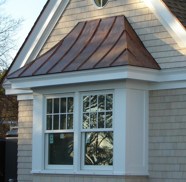 Copper Standing Seam Roof Over Window Traditional Exterior Boston By Aspen Roofing Services Inc Houzz Au