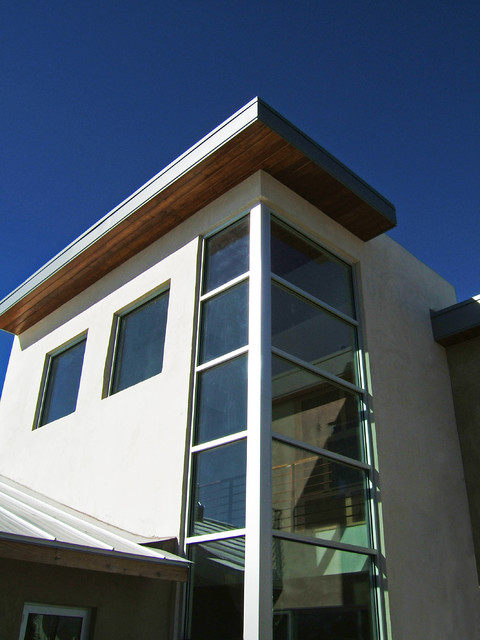 Corner staircase window modern exterior albuquerque for Exterior window design