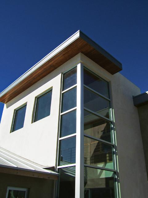 Corner Staircase Window Modern Exterior Albuquerque