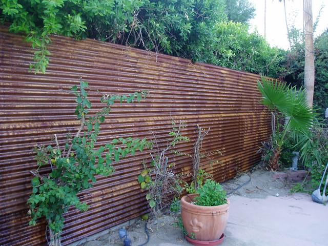 Corten Corrugated Fence