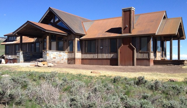Corten Corrugated Roofing Rustic Exterior Phoenix