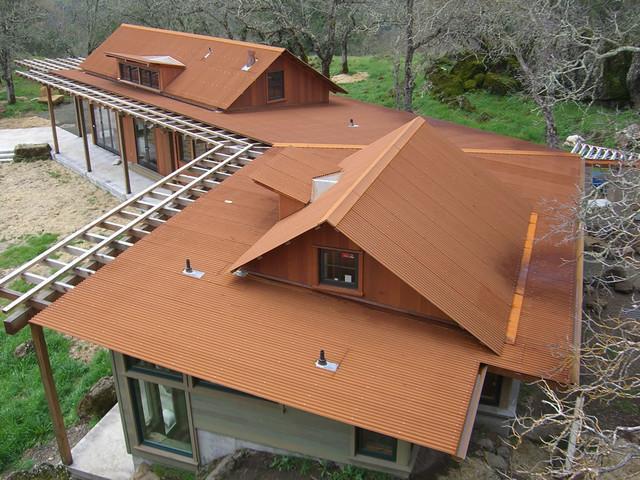Corten Corrugated Roofing Rustic Exterior
