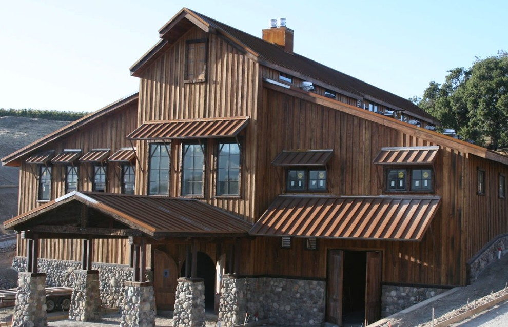 Corten Standing Seam Roofing Rustic Exterior Santa Barbara By Western States Metal Roofing