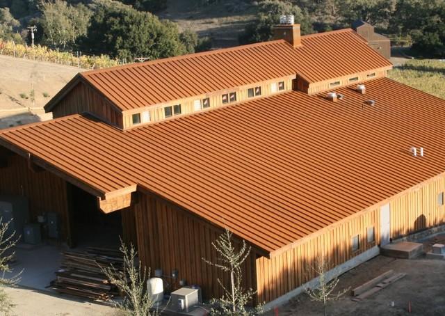 Good Corten Standing Seam Roofing Rustic Exterior