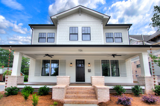 Cotswold charlotte craftsman transitional custom home for Custom house charlotte
