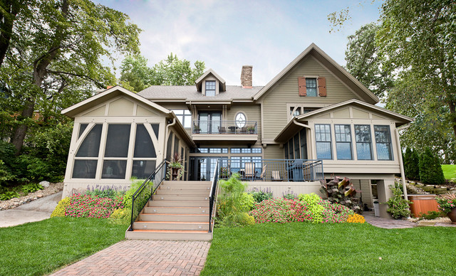 Cottage on the hill craftsman exterior minneapolis for Cottage exterior design photos