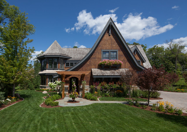 Cottage style meets modern living traditional exterior for Styles of residential homes