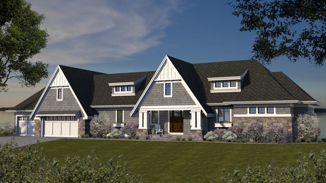 Cottage Style Rambler Lake Home - Craftsman - Exterior ... on vintage rambler house plans, ranch rambler house plans, contemporary rambler house plans, modern rambler house plans,
