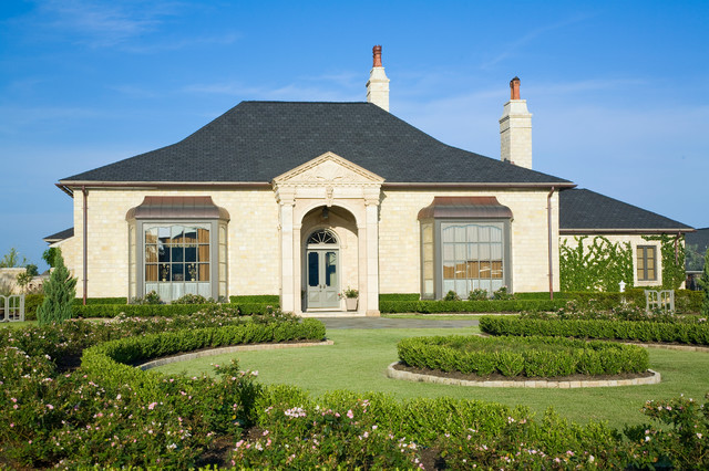 Front Elevation French : Country french custom home front elevation traditional