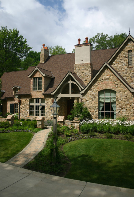 Country French Estate traditional exterior