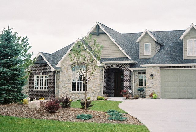 Country french stone brick facade for French country brick exterior