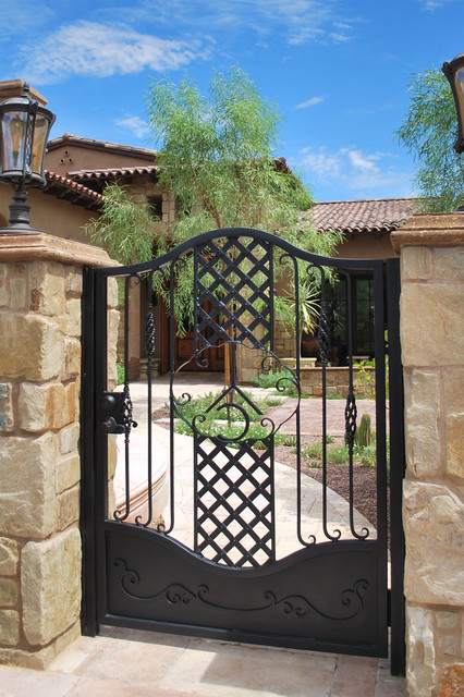 Courtyard Gate traditional-exterior