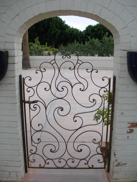 Courtyard Gates traditional-exterior