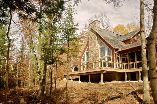 Cozy Rustic Family Cottage Cabin Rustic Exterior Ottawa By Stylehaus Interiors