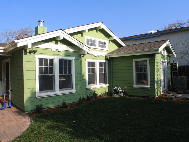 Craftsman addition traditional-exterior