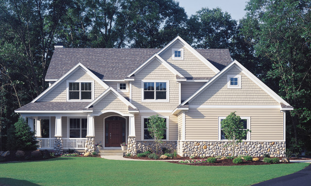 Craftsman Built With Vinyl Siding Exterior