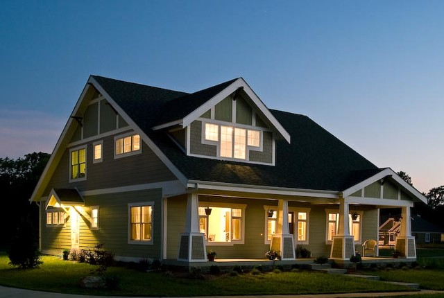 Craftsman exterior home idea in Indianapolis